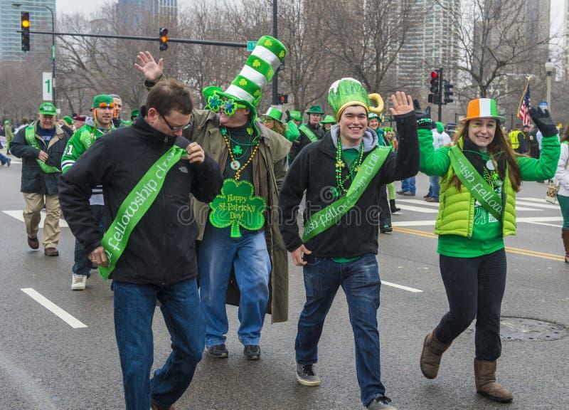 Parada de Chicago St Patrick fotografia de stock royalty free