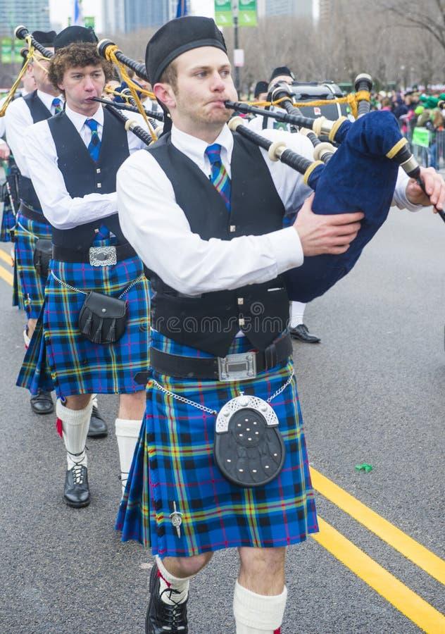 Parada de Chicago St Patrick foto de stock