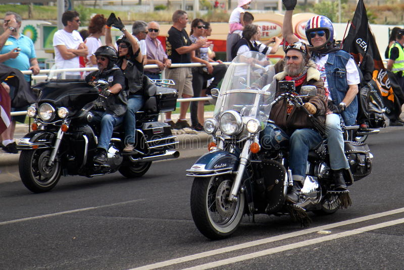 Parada de Harley Davidson imagens de stock royalty free