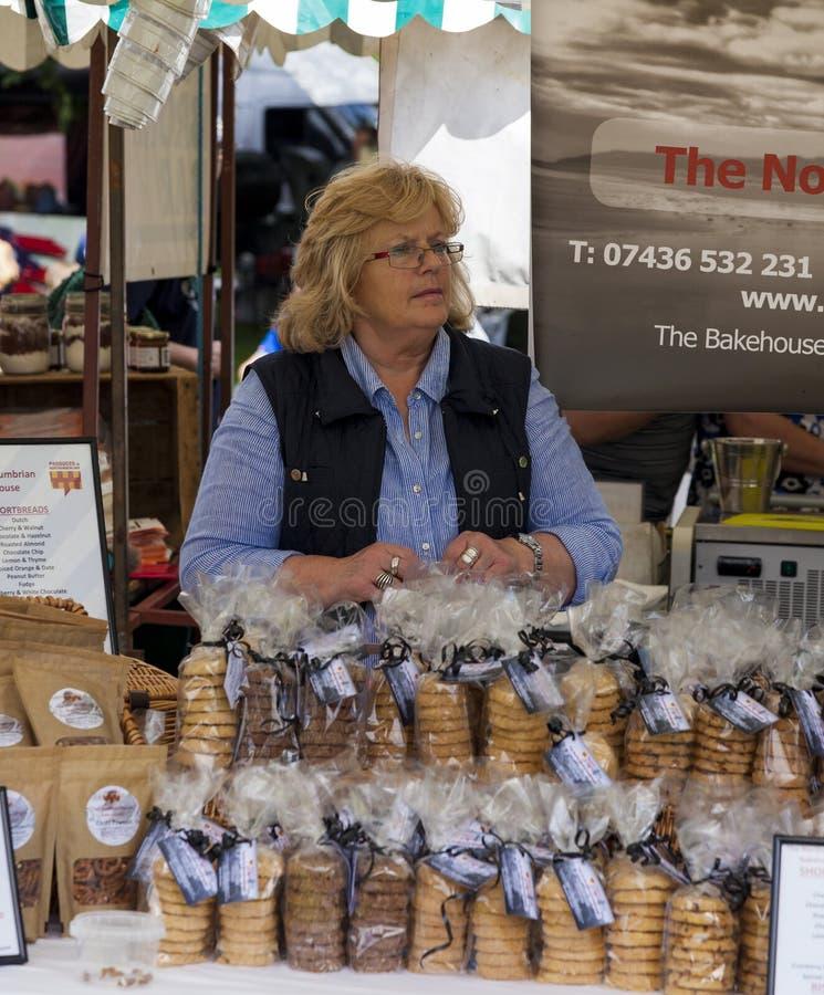 Parada de la comida en Cramlington, Northumberland imagen de archivo