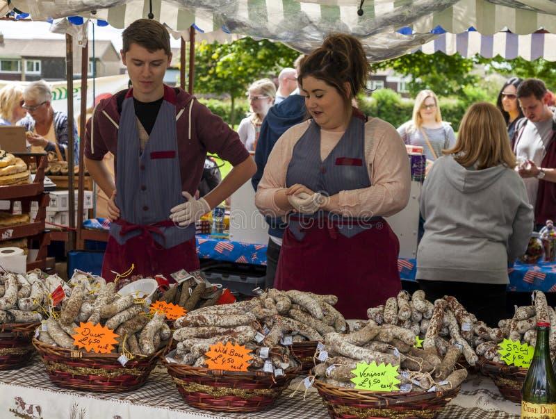Parada de la comida en Cramlington, Northumberland fotos de archivo