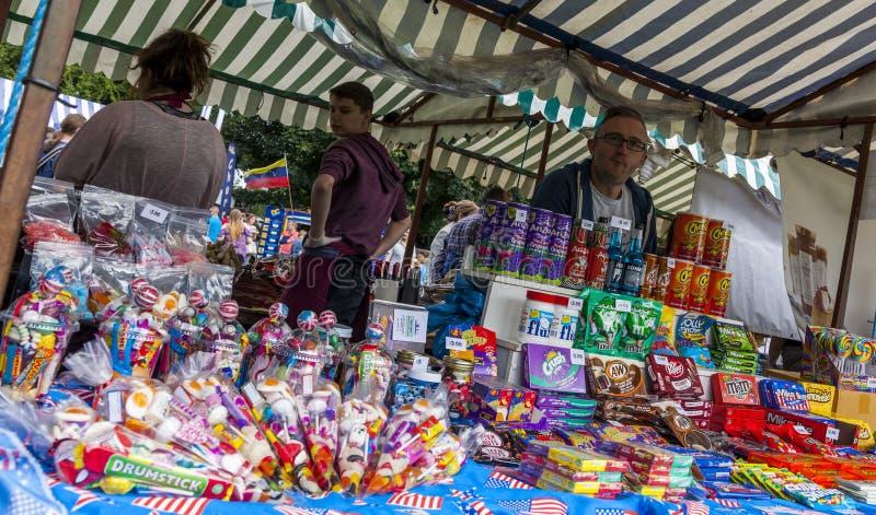 Parada de la comida en Cramlington, Northumberland fotografía de archivo