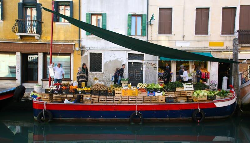 Parada de la fruta en Venecia foto de archivo libre de regalías