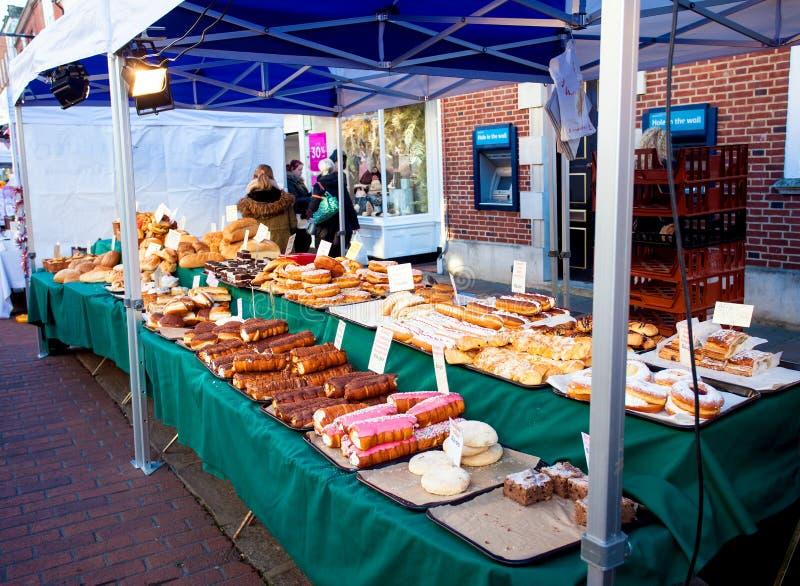 Parada de la torta del mercado imagen de archivo