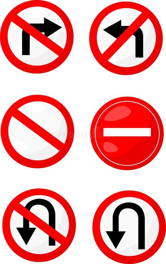 Parada de las señales de tráfico libre illustration