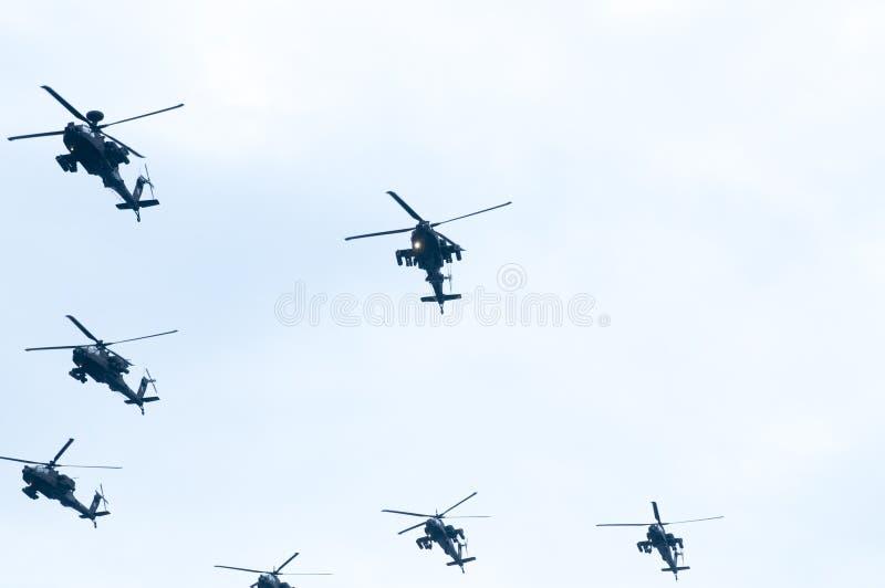 Parada de Ohi Day da tecnologia militar do ar em Tessalónica fotos de stock