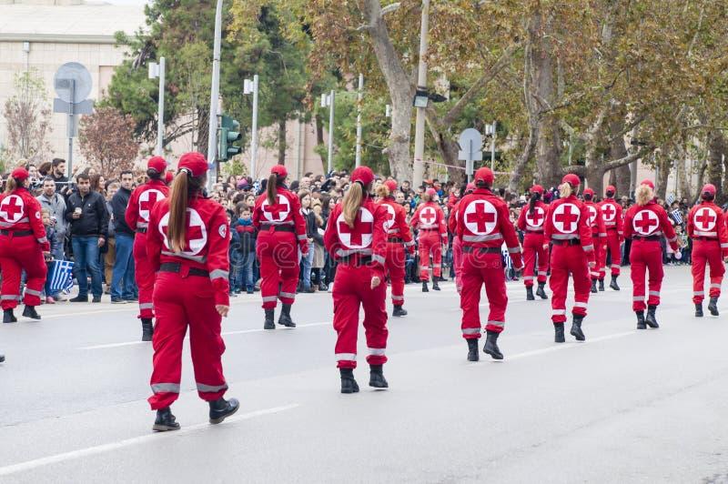 Parada de Ohi Day em Tessalónica imagem de stock
