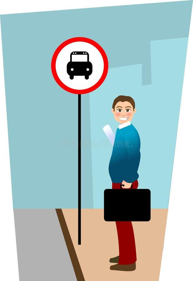 Parada de omnibus ilustración del vector