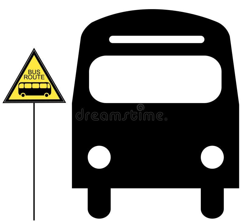 Parada de omnibus stock de ilustración