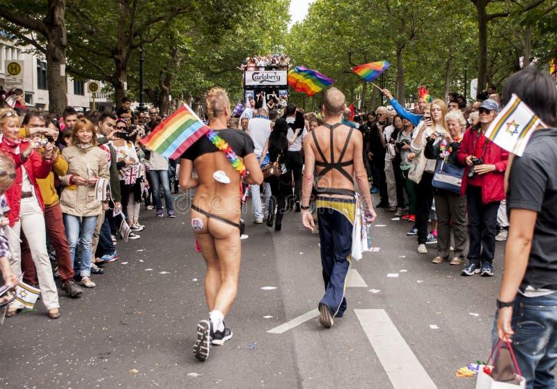 Parada de orgulho alegre em Berlim fotos de stock