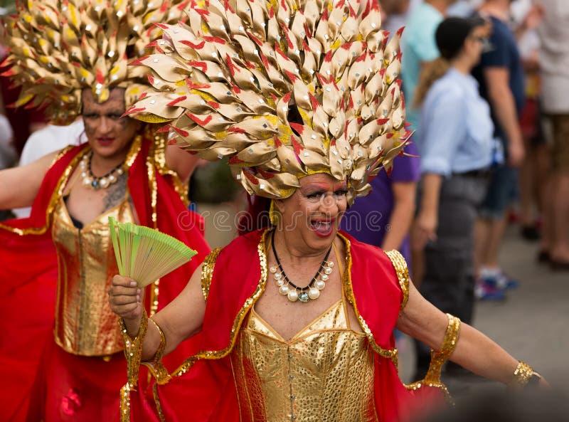 Parada de orgulho alegre em Sitges fotografia de stock royalty free