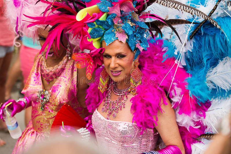 Parada de orgulho alegre em Sitges foto de stock royalty free