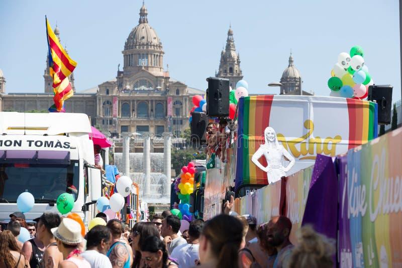 Parada de orgulho de Barcelona fotos de stock royalty free