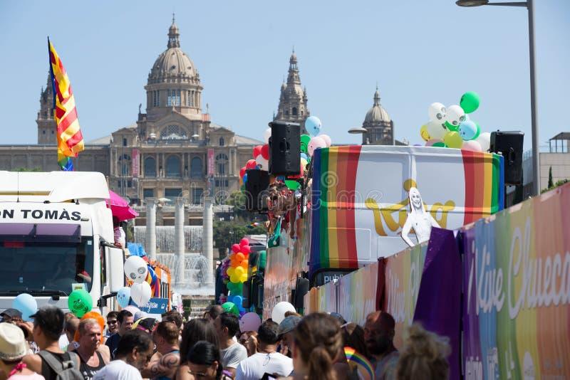 Parada de orgulho em Barcelona, spain fotografia de stock