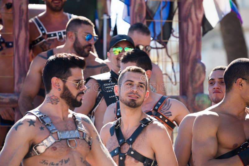Parada de orgulho nos sitges fotografia de stock