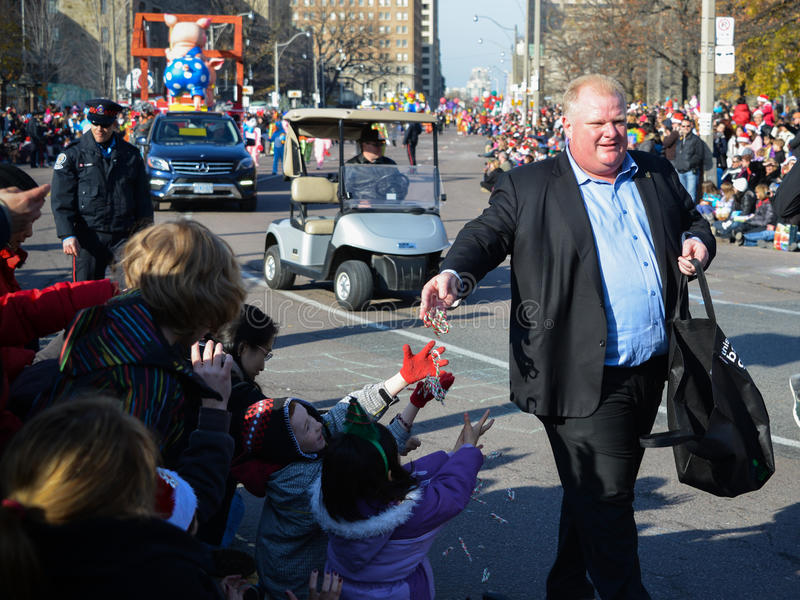 Parada De Papai Noel De Toronto 108th Imagem de Stock Editorial
