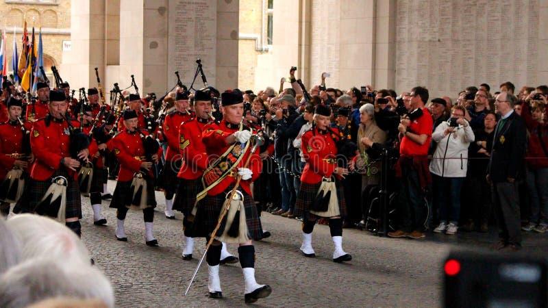 Parada de RCMP em Ypres imagem de stock royalty free