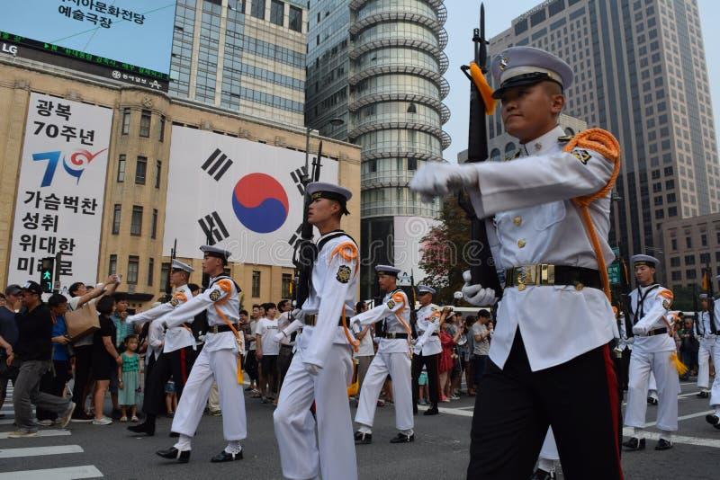 Parada de Seoul fotografia de stock royalty free