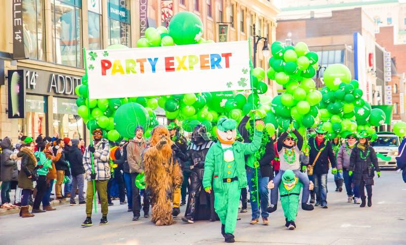 Parada de St Patrick imagem de stock