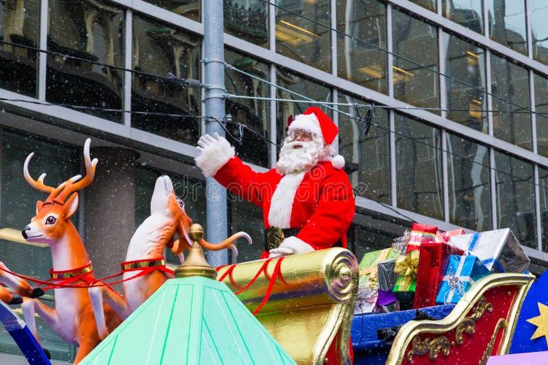 Parada de Toronto Papai Noel imagem de stock