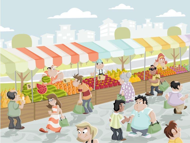 Parada del mercado ilustración del vector