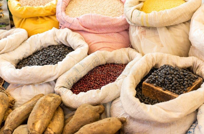Parada del mercado de la comida imagenes de archivo