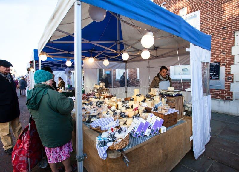Parada del queso del mercado fotos de archivo