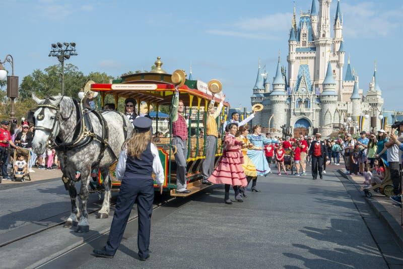 Parada, Disney World, Magiczny królestwo, podróż, Floryda obrazy stock