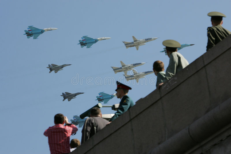 Parada do ar em Moscovo imagens de stock royalty free