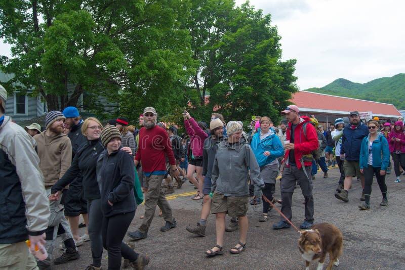 Parada do caminhante - festival dos dias da fuga fotografia de stock