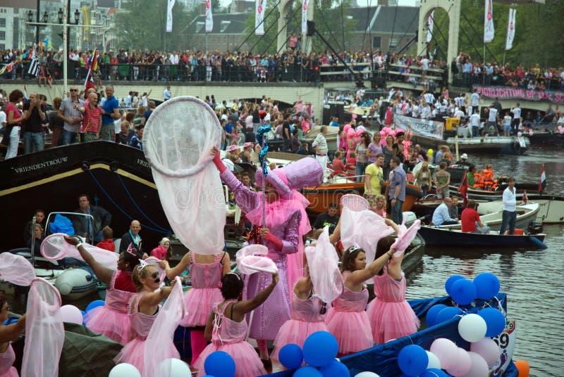 Parada do canal, orgulho alegre 2011 foto de stock royalty free