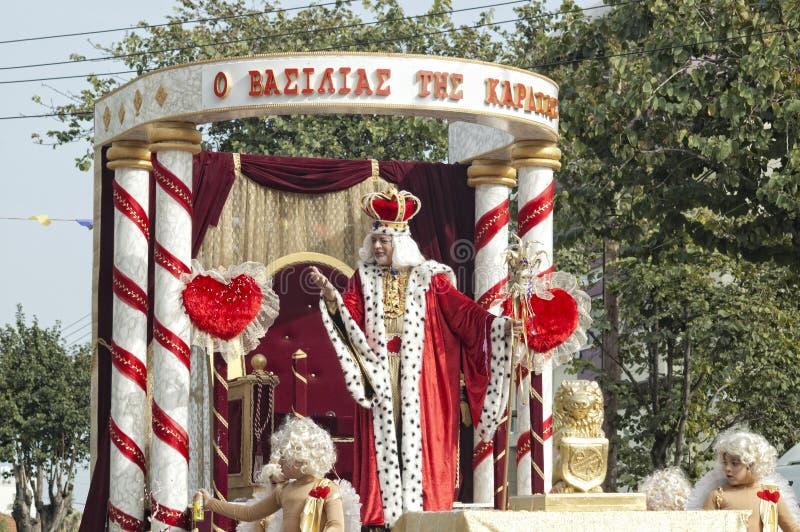 Parada do carnaval de Limassol, fevereiro 14, 2010 foto de stock royalty free