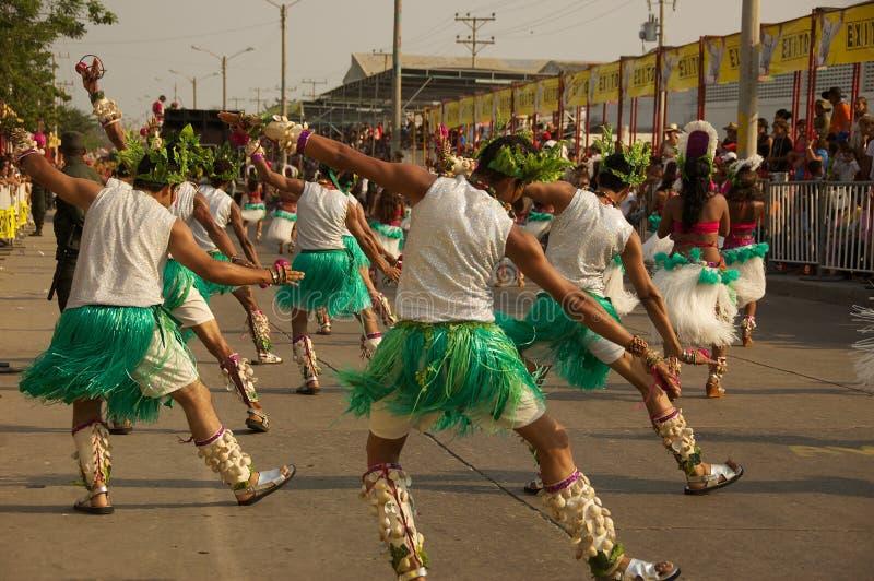 Parada do carnaval em Barranquilla Colômbia imagens de stock royalty free