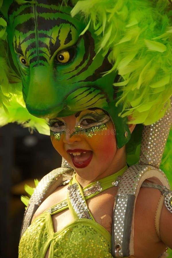 Parada do carnaval em Barranquilla, Colômbia fotos de stock royalty free