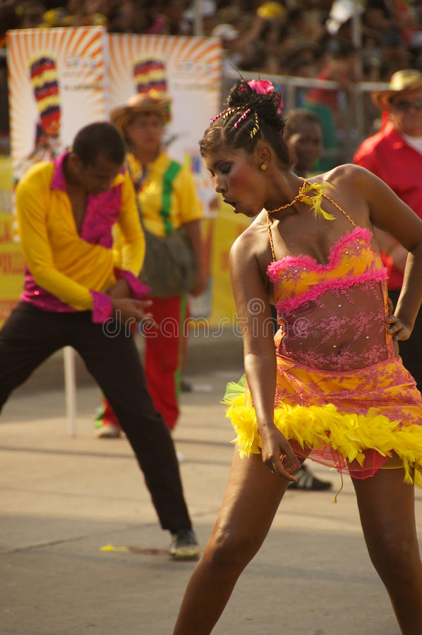 Parada do carnaval em Barranquilla, Colômbia imagem de stock royalty free