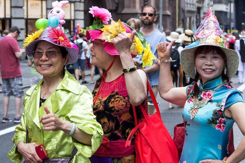 Parada 2017 do chapéu do Domingo de Páscoa New York City fotos de stock royalty free