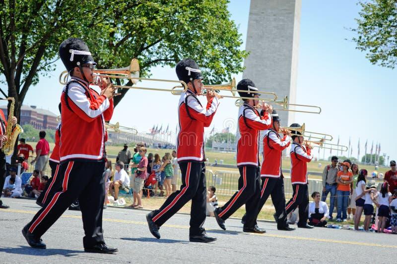 Parada do Dia da Independência foto de stock