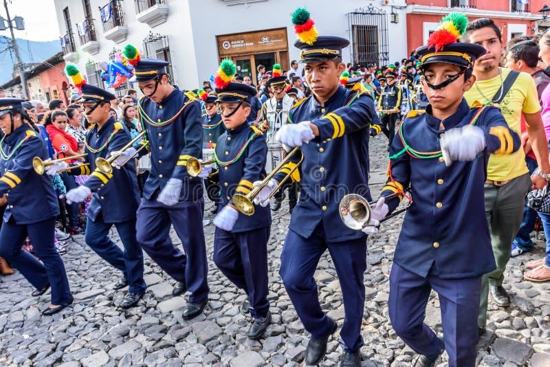 Parada do Dia da Independência, Antígua, Guatemala imagens de stock royalty free