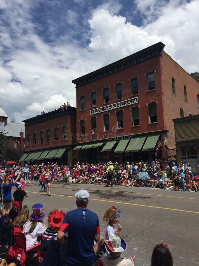Parada do Dia da Independência do Telluride foto de stock
