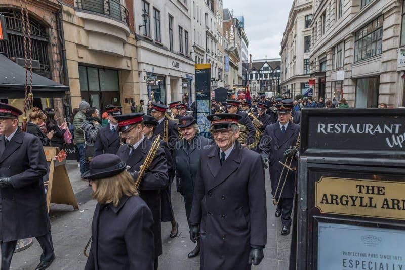 Parada do dia da Páscoa do exército de salvação fotografia de stock royalty free