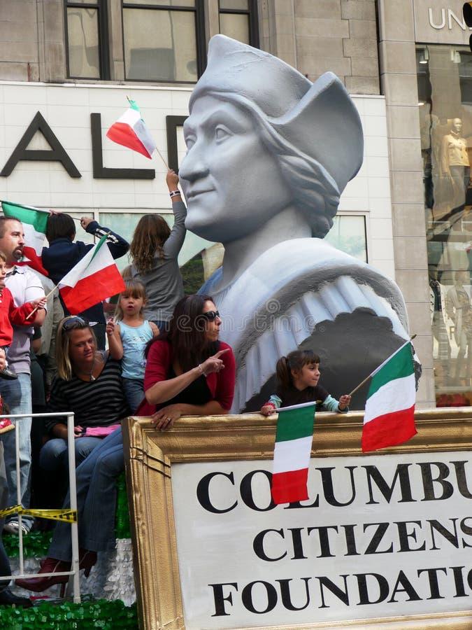Parada do dia de Columbo. imagens de stock royalty free