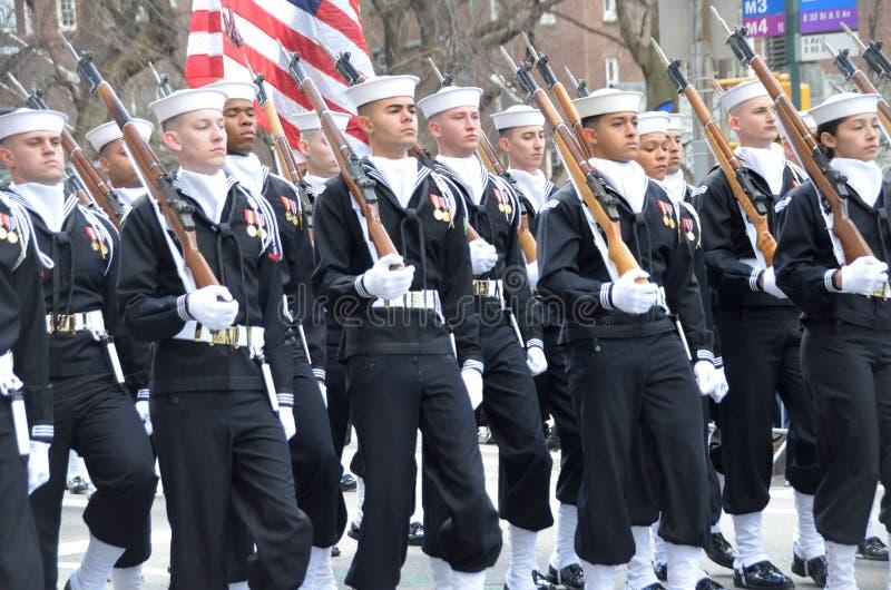 Parada do dia de NYC St Patrick fotos de stock
