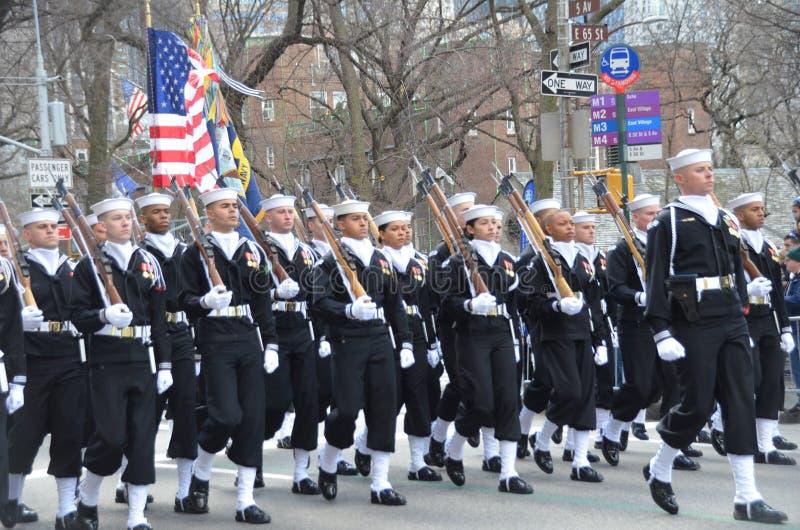 Parada do dia de NYC St Patrick imagens de stock