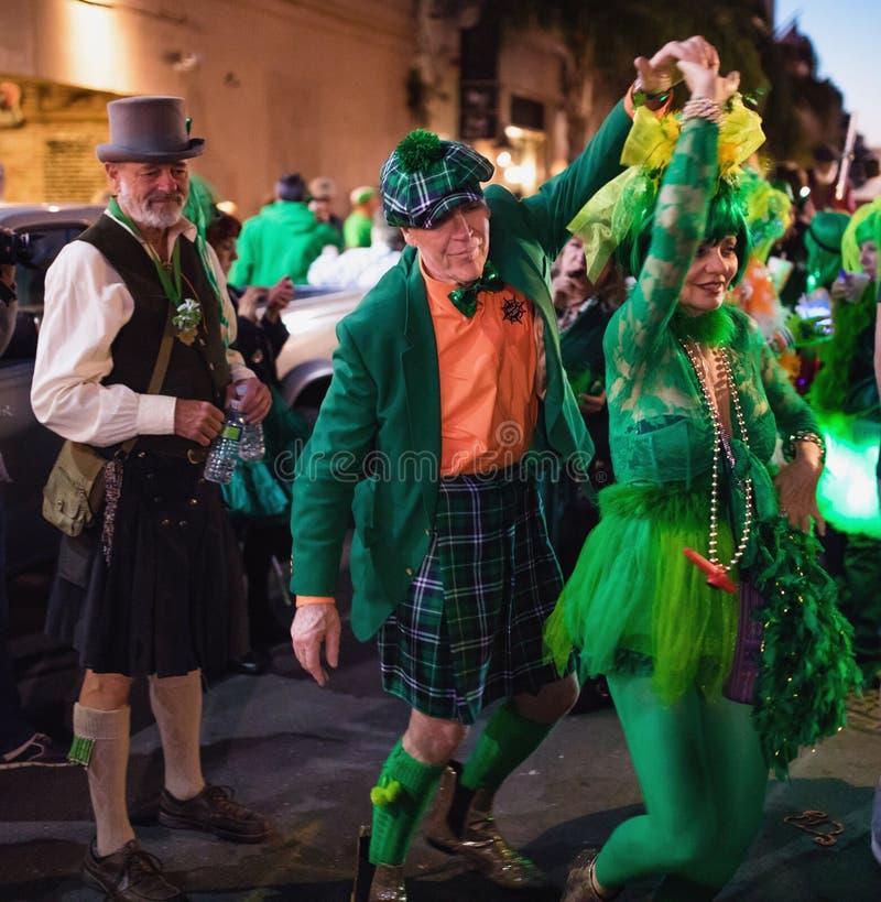 Parada do dia do ` s de Nova Orleães St Patrick imagens de stock
