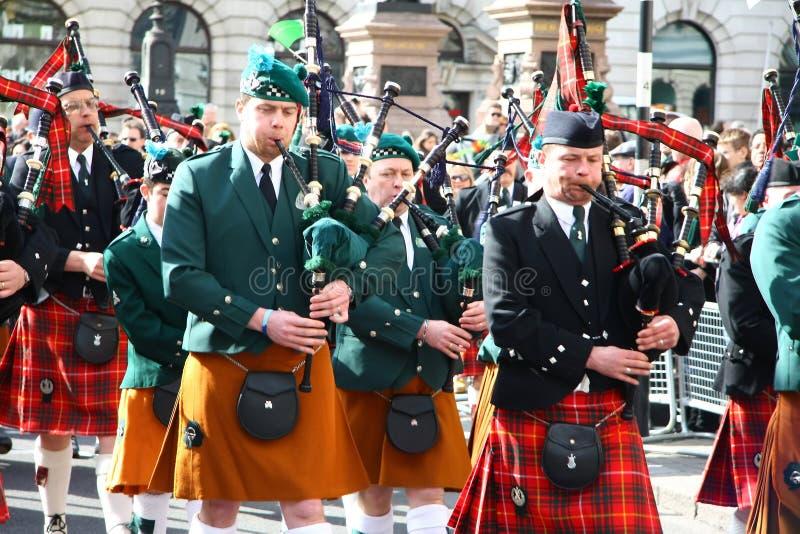 Parada do dia do St Patrick. fotos de stock royalty free