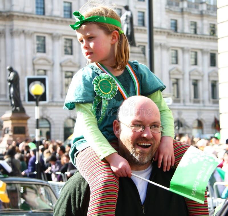 Parada do dia do St Patrick. imagens de stock