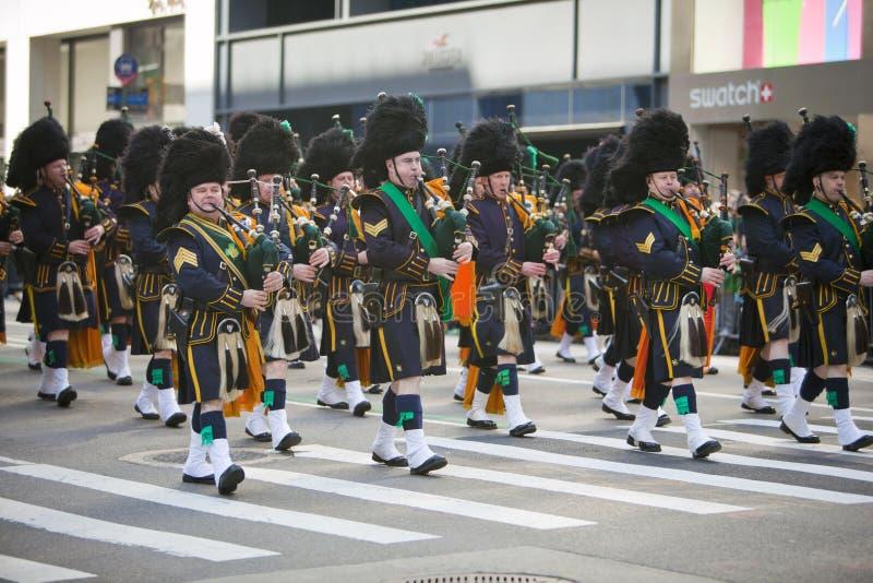 Parada do dia do St. Patrick fotos de stock