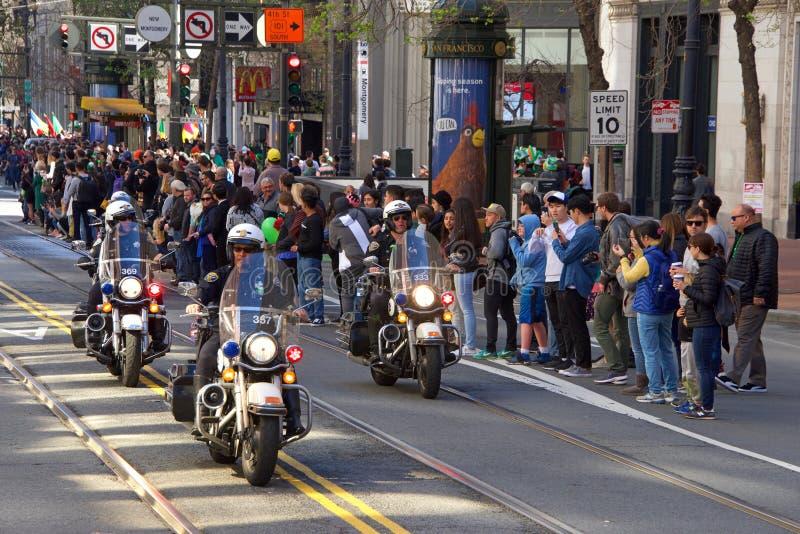 Parada do dia do 168th St Patrick anual de San Francisco imagens de stock