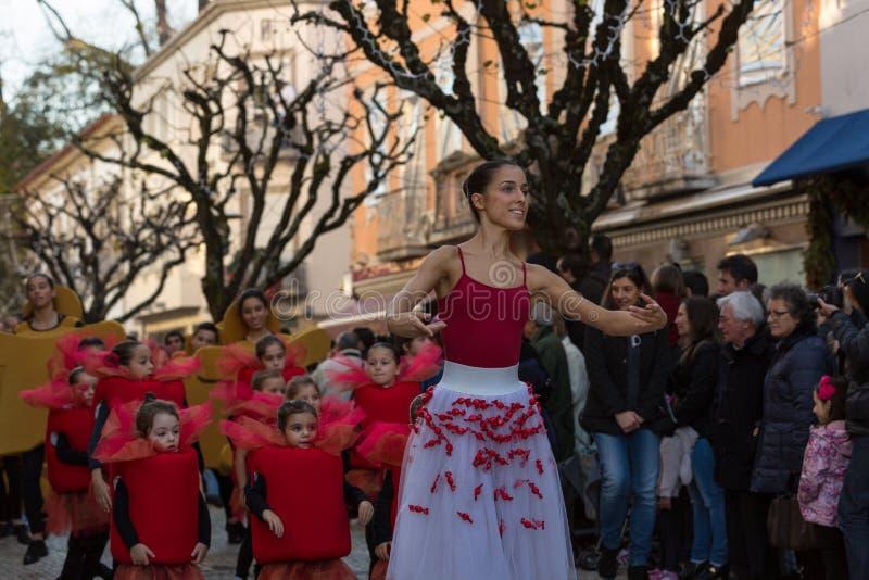 Parada do Natal de Braga fotografia de stock