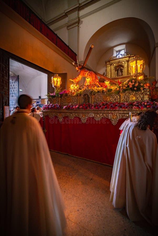 Parada do Nazarene na Semana Santa Valladolid, Spain fotos de stock royalty free
